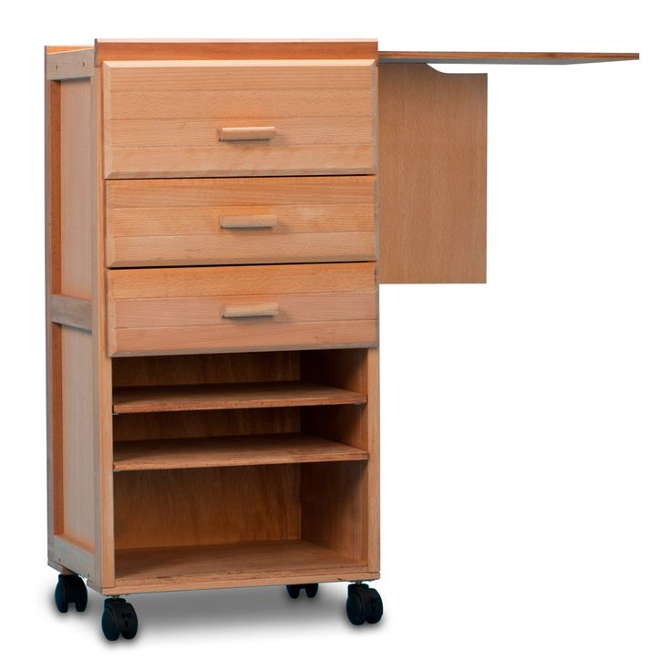 Treat Yourself To A Solid Wood Artist Taboret Complete With Built In Plexi  Glass Palette And Locking Casters To Create A Mobile, Easy To Use Artist ...