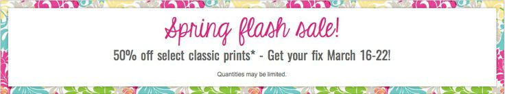 Thirty One Flash Spring Sale! 50% off twenty styles!