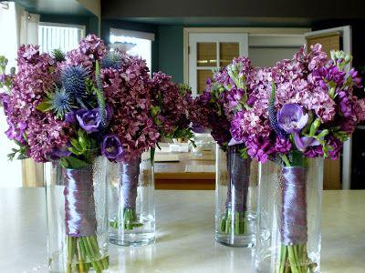 bouquet azul e lilás! Lindos!