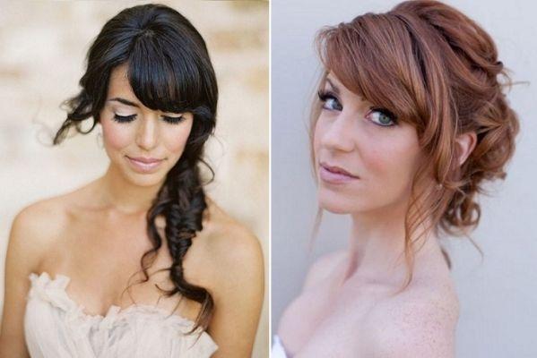 Znalezione obrazy dla zapytania rozpuszczone włosy na wesele grzywka