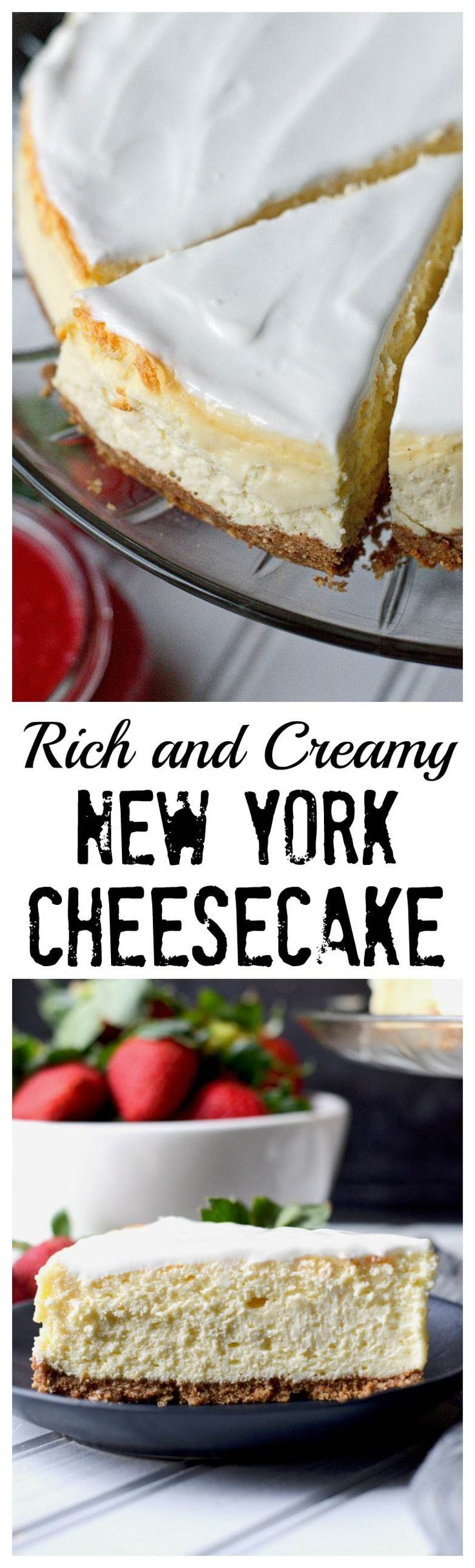 This rich and creamy New York Cheesecake recipe has been a family favorite for years.