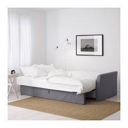 IKEA - HOLMSUND, Convertible 3 places, Ransta blanc, , Couverture en coton résistant de texture fine et lisse.L