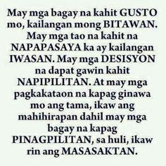 Move On Tagalog Quotes