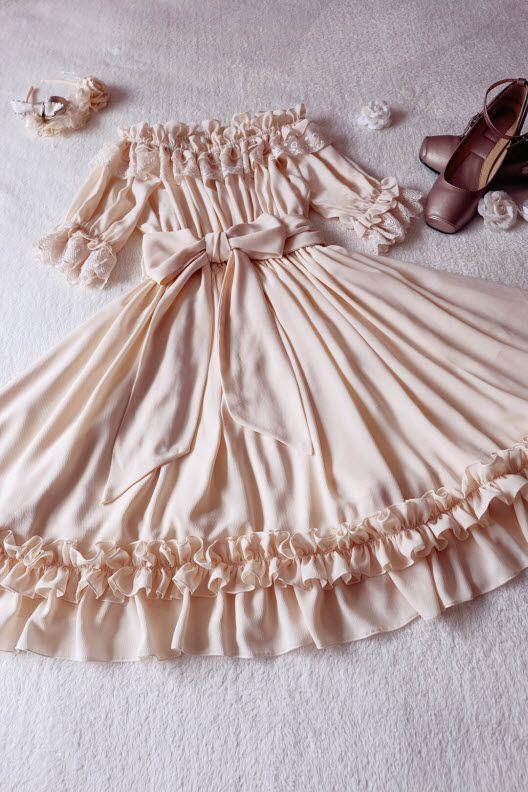 Grove Deer -Eternal Moon- Unicolor Classic Lolita OP Dress