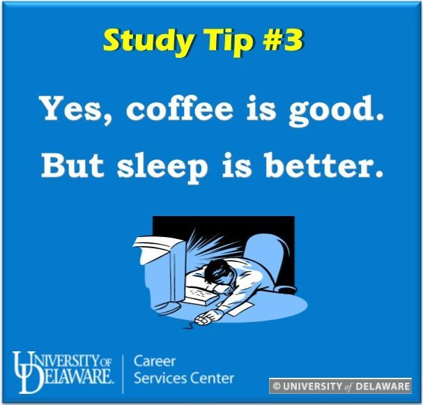 We know coffee and a snow storm mix well, but remember to get 7-8 hours of sleep per night to feel refreshed in the morning! #udel #UDreamItDoIt