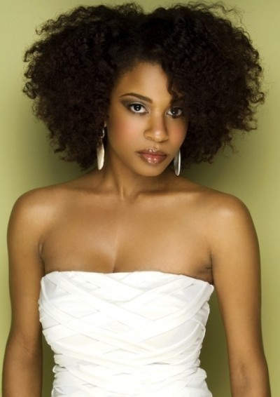 Beautiful voluminous afro for African American women