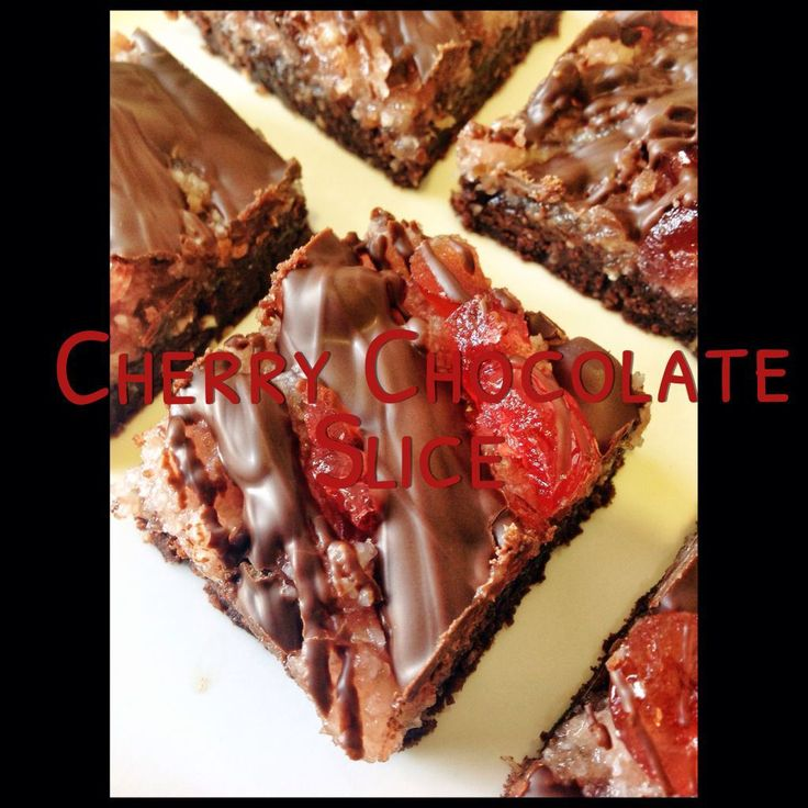 Cherry Chocolate Slice (Thermomix Recipe Included)