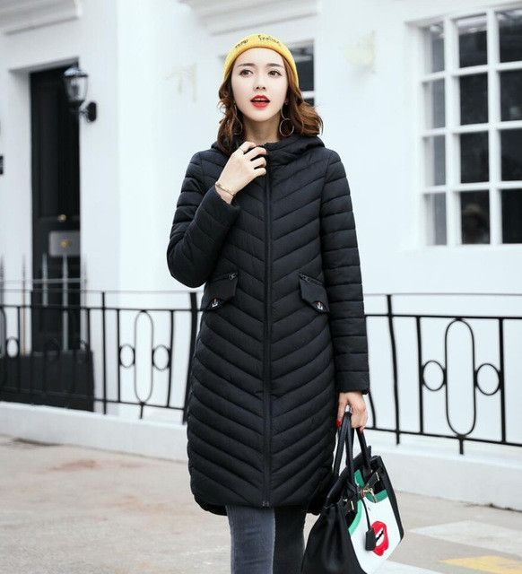 SWREDMI New Fashion Ladies Winter Jacket 2017 Winter Parkas Long Thick Slim Women Jackets And Coats Outerwear Plus Size Clothing