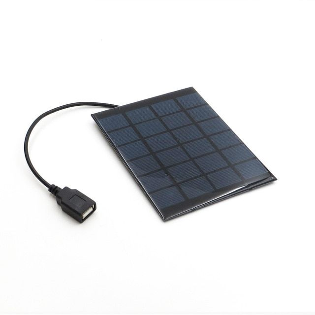 Solar Panel Charger 6v 2w Solar Cell Polycrystalline Diy Solar Charge Battery Cable 30cm 5v Usb Output Solar Panel 6vdc Revi Solar Panels Solar Roof Solar Cell