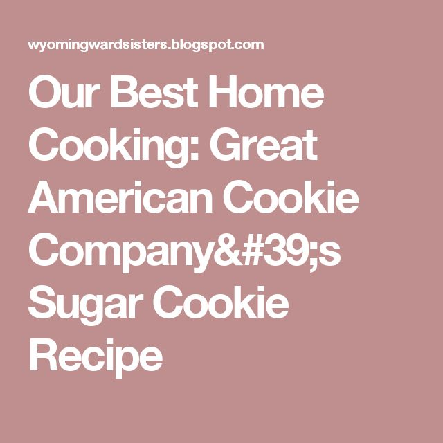 Great American Cookie Company Chocolate Icing Recipe