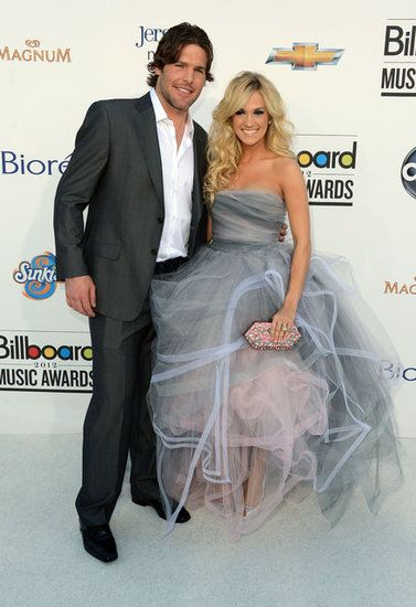 Carrie Underwood in Oscar de la Renta at the 2012 Billboard Music Awards.: Mike Fisher, Hockey Players, Billboard Music Awards, Carrie Underwood, Beautiful People, The Dresses, Photo, Grey Dresses, 2012 Billboard