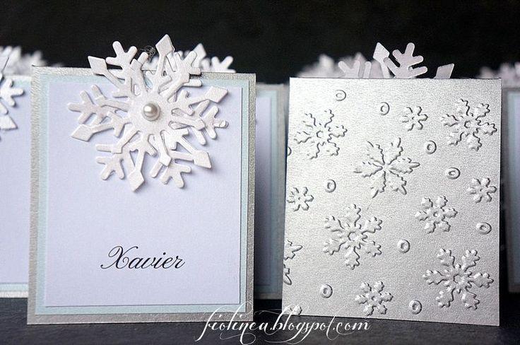 Fiolinea - Ślubna Galanteria Papiernicza: Zima, zima, zima...