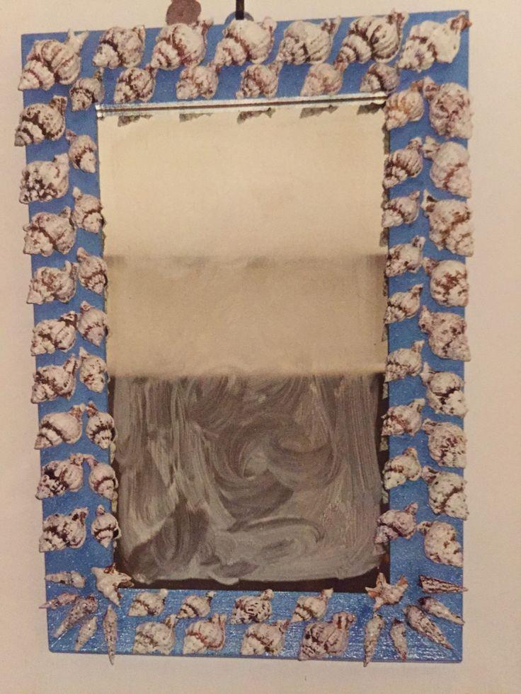 32 migliori immagini fai da me su pinterest decoupage - Specchio con conchiglie ...