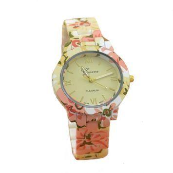 Часы - Geneva Flowers (Розовые)