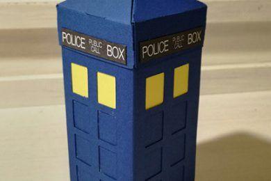 Scatolina porta confetti Tardis Doctor Who, realizzata a mano