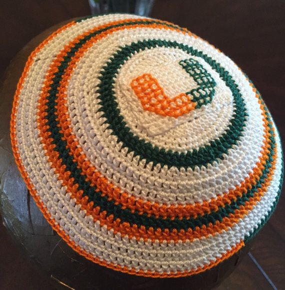 Jewish Miami University Hurricanes football baseball by CuteKippah