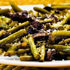 Roasted Green Beans with Mushrooms, Balsamic, and Parmesan Recipe | Oh ...