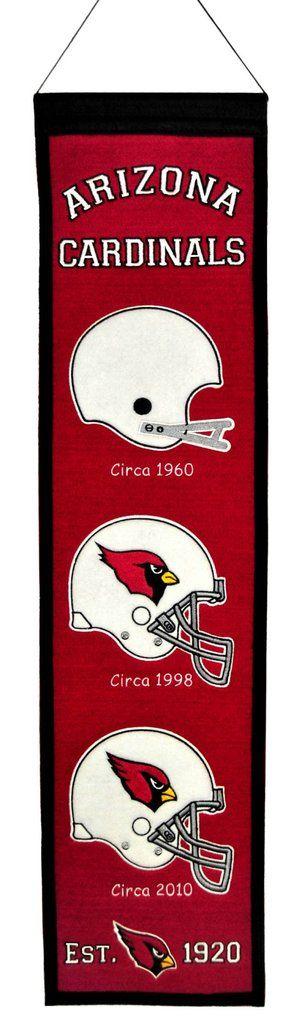 Arizona Cardinals Banner 8x32 Wool Heritage Special Order