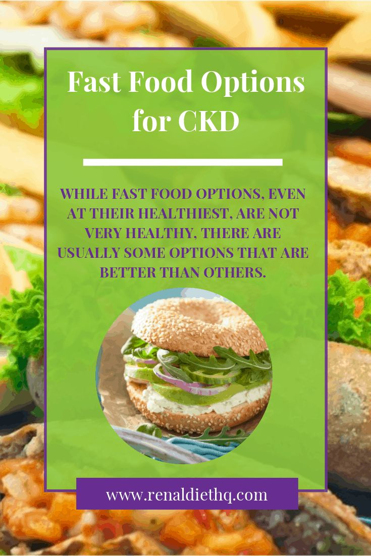 Fast Food Options for CKD in 2020 Kidney disease recipes