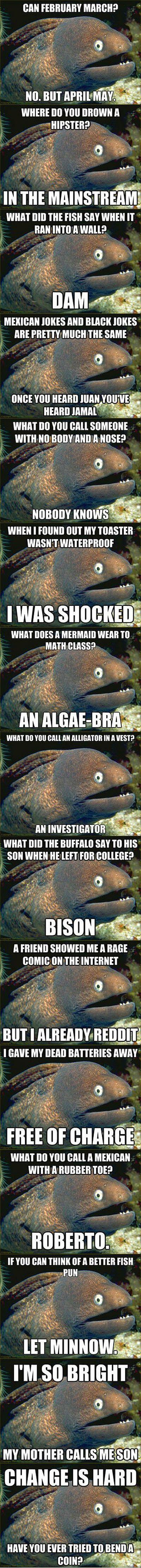 This eel loves jokes...