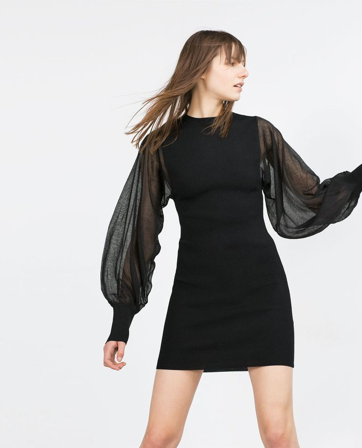 Image 2 of CREPE SLEEVE DRESS from Zara
