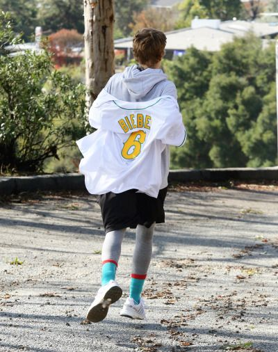 December 16: [More] Justin seen hiking in Los Angeles, California