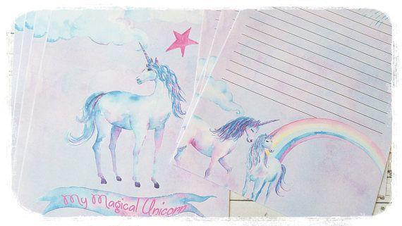 16xMagical Unicorns Letter Writing SetUnicorn