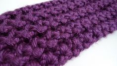 loom knitting stitches | Loom Knit Scarflette Pattern
