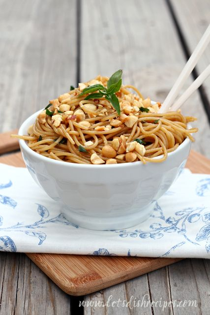 My family loves these Easy Sesame Noodles, but I was still surprised at what a huge hit this kicked up version was with my family.  There are a few more complex flavors in this recipe, which I love...