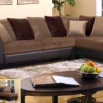 chocolate curved sectional sofa ideas photo