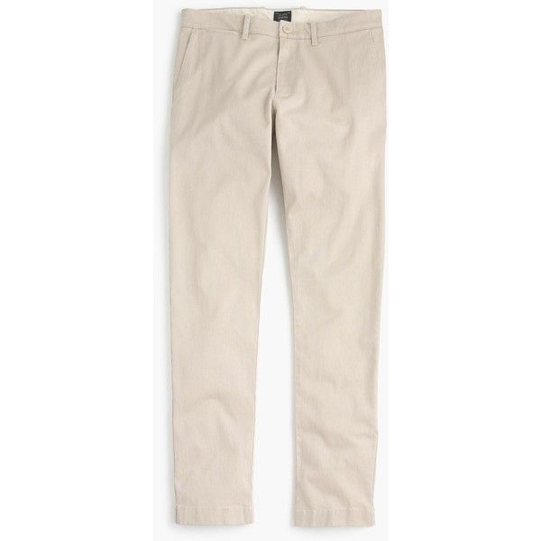 J.Crew Stretch Chino In 484 Fit ($68) ❤ liked on Polyvore featuring men's fashion, men's clothing, men's pants, men's casual pants, mens slim pants, mens stretch pants, men's 5 pocket pants, mens slim fit chino pants and mens chinos pants