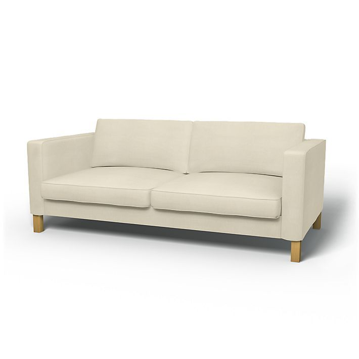 Karlstad 3 Seat Sofa Bed Cover Rent Seater Bedrooms Covers Regular Fit Using The Fabric Simply Linen Unbleached