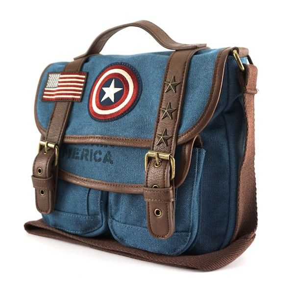 Loungefly Unveils A Handsome Captain America Canvas Messenger Bag – Fashionably Geek