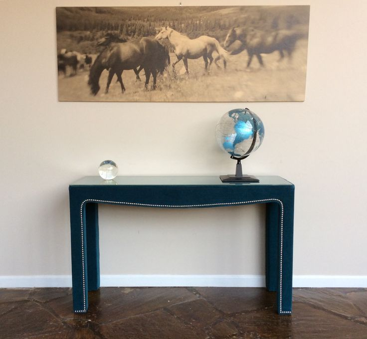 Victor Console Table In Gilmore Teal At MG+BW Outlet. Tel~ 828.261