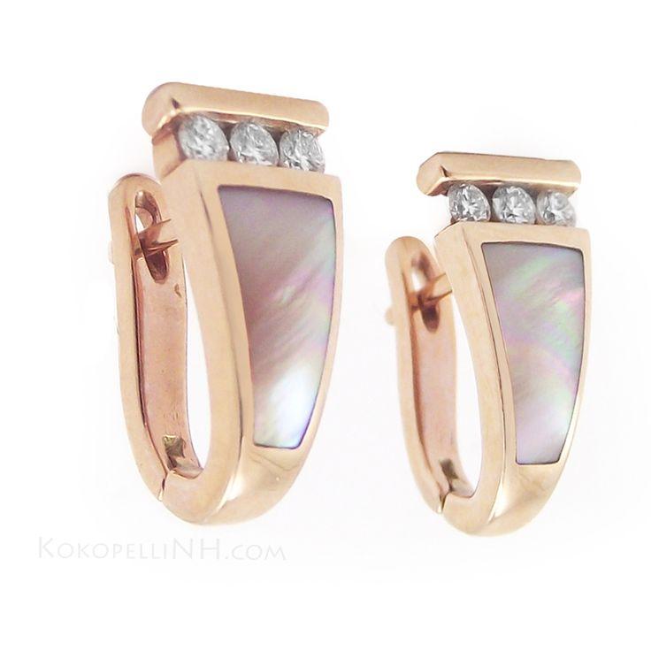 KABANA ewelry | Kabana Jewelry Earrings with Diamonds and Mother of Pearl - Earrings ...