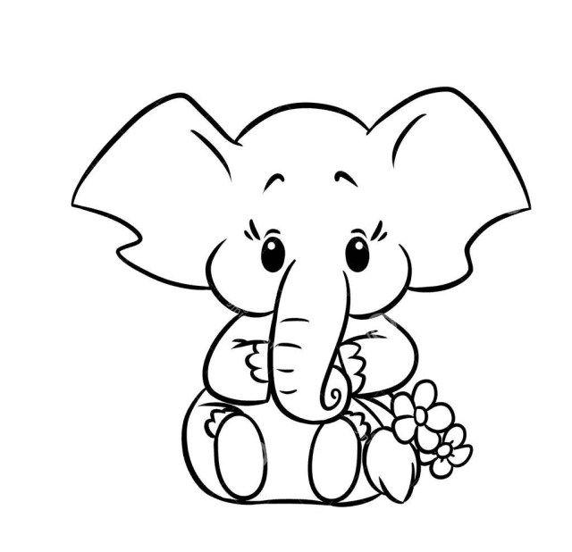 Elephant Images To Color Cinebrique