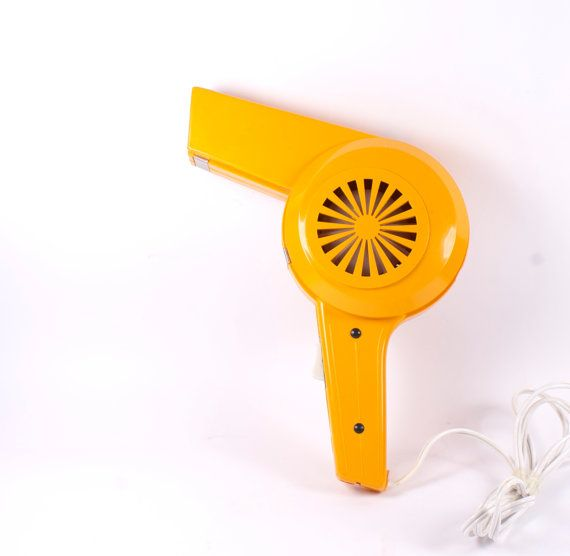 retro orange hairdryer