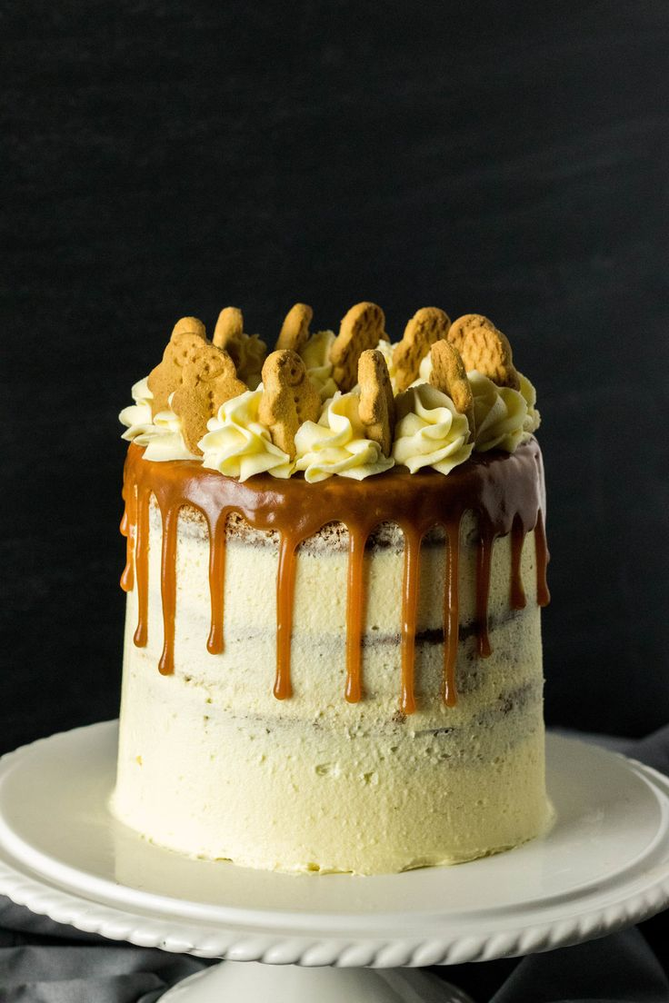 White Chocolate Caramel Gingerbread Cake