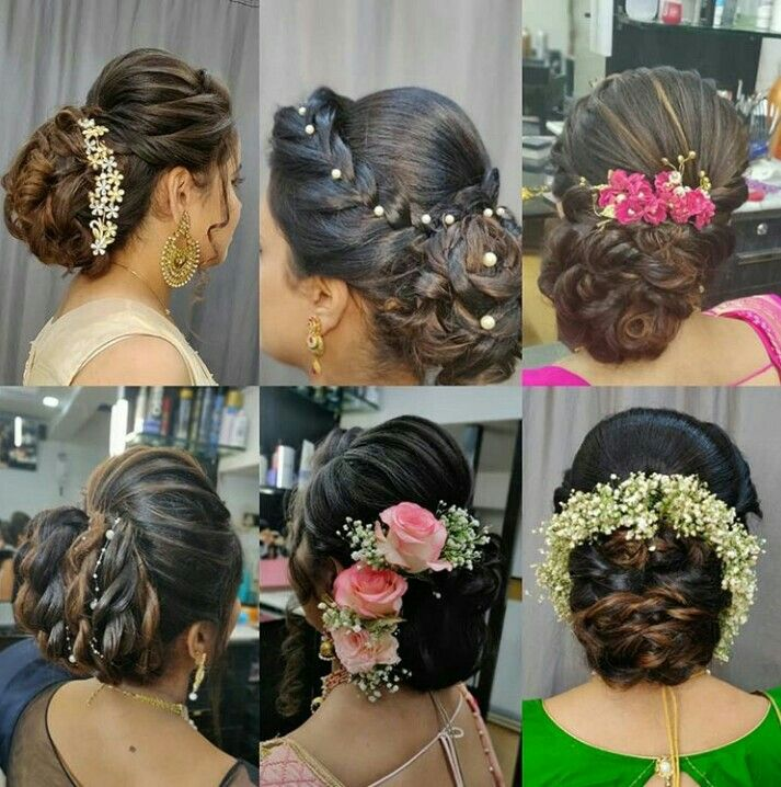 Bridal Bun Indian Bridal Hairstyles Wedding Bun Hairstyles Artistic Hair