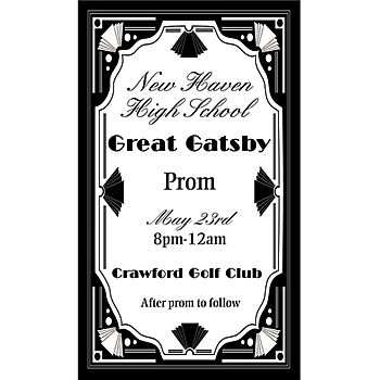 Invite your guests to your 1920's event with this Great Gatsby Personalized Invitation.