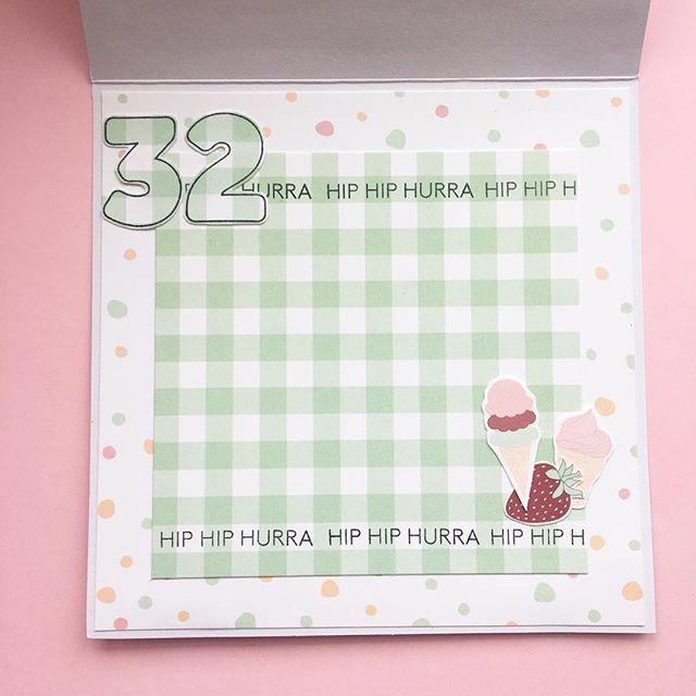 Fødselsdagskort #threescoopsdk