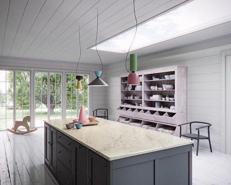 Caesarstone White Attica Quartz Kitchen Countertop Pinterest