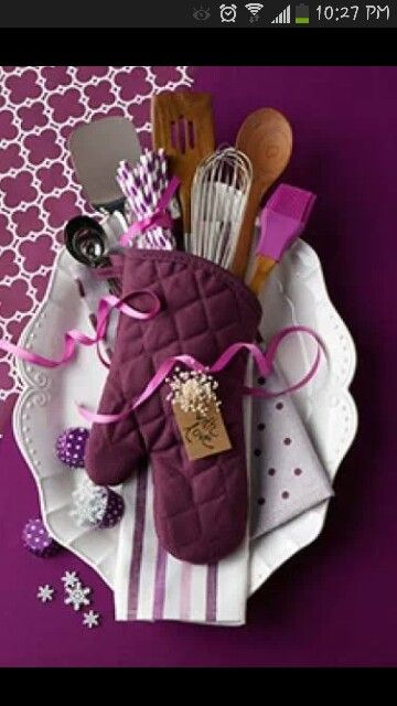 Bridal Shower Gift DIY  KItchen Items  Purple  Creativity