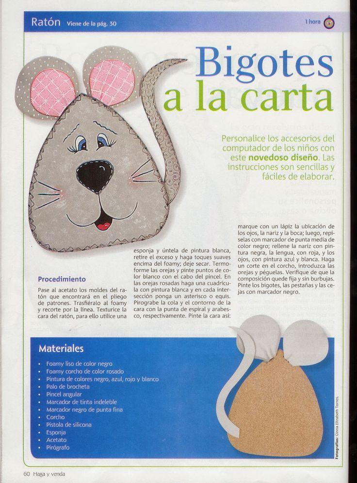 Revistas de manualidades Gratis: Manualidades en foamy para vender