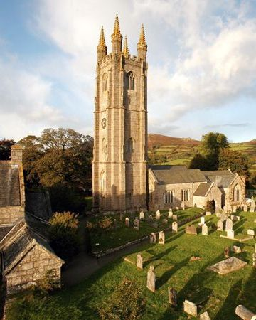 "Dartmoor National Park, England Photograph by Marc-Oliver Schulz, laif/Redux Known as the ""Cathedral on the Moor,"" St. Pancras Church is located in the village of Widecombe-in-the-Moor in Dartmoor's picturesque East Webburn Valley."