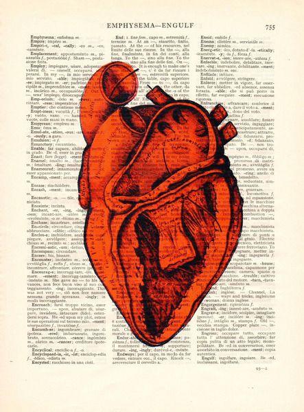 Vintage Bilder - Heart vintage home accessories art vintage picture - ein Designerstück von Dictionary-vintage-book-page bei DaWanda
