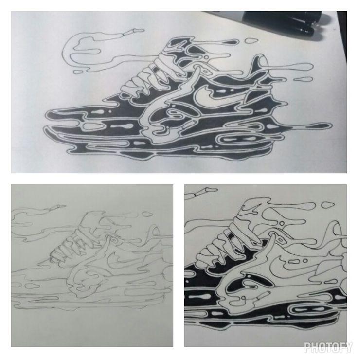 Proceso ilustración Air Max 1 Nike.