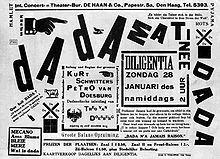 Cartel dadaista el cual expresa como se hacia este género vanguardista. En la página web de este cartel podemos encontrar toda la información necesaria sobre las vanguardias.