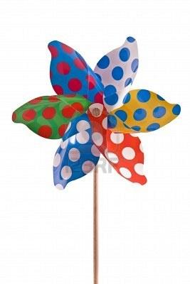 Polka dot pinwheel