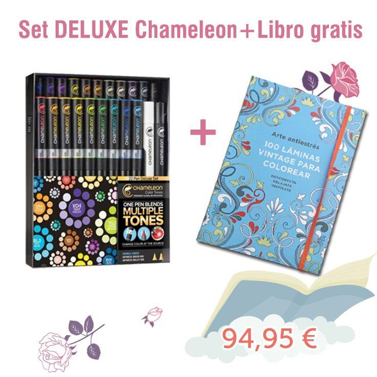 Set DELUXE de 22 Rotuladores Chameleon + libro GRATIS